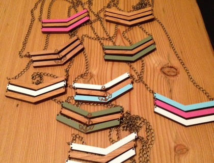 Coloured Chevron Necklaces