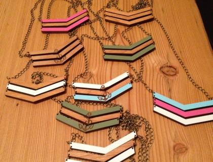 Coloured Chevron Necklaces