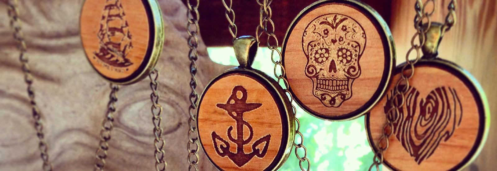wooden pendants